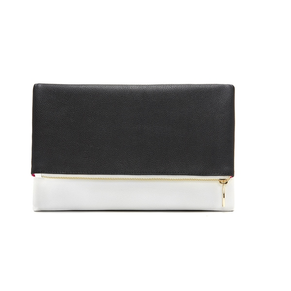 Black and White Foldable Clutch