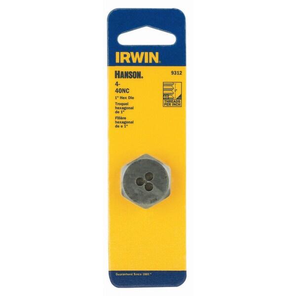 Irwin 9312 1-inch 4-40 NC Hex Die