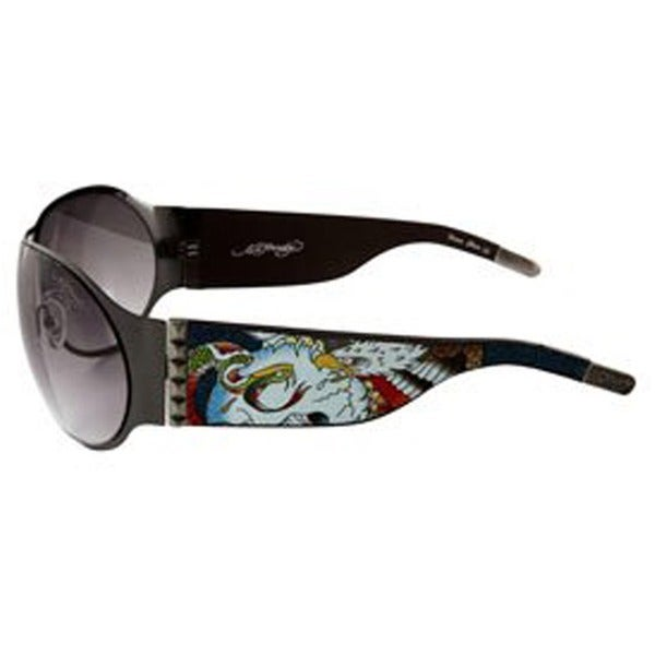 Ed Hardy Battle Ehs 011 Gunmetal Grey Gradient Sunglasses
