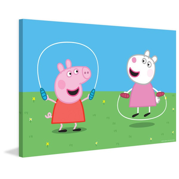 Marmont Hill 'Jumping Rope' Peppa Pig Painting Print on Canvas