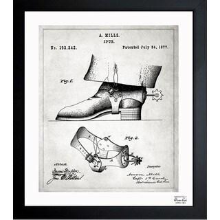 'Spurs 1877' Framed Blueprint Art