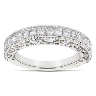 Luxurman 14k Gold 1ct TDW Diamond Milgrain and Filigree Diamond Ring (G-H, SI1-SI2)