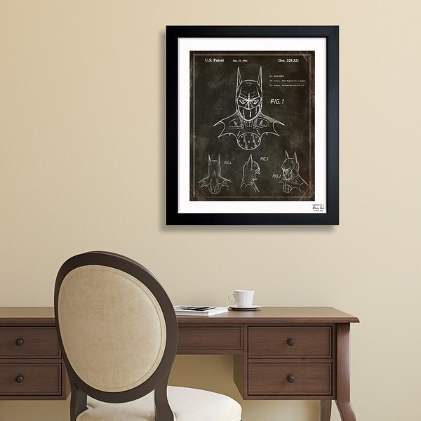 'Batman, 1992' Framed Blueprint Art
