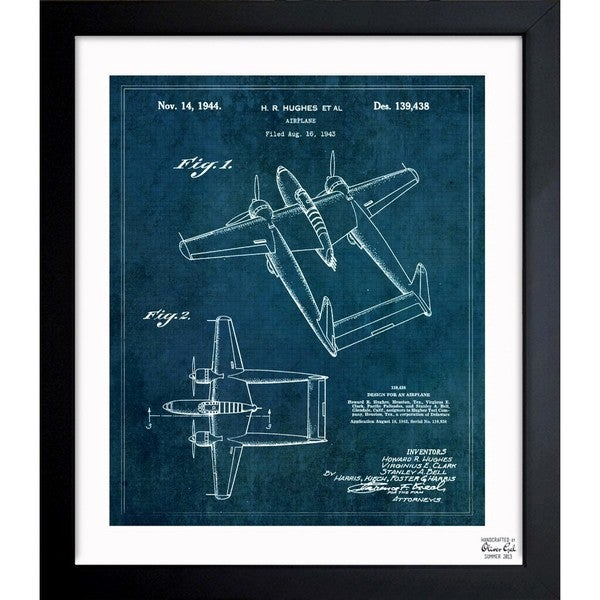 'Airplane 1944' Framed Blueprint Art