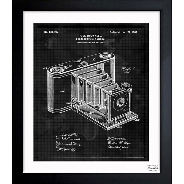 'Photographic Camera 1902' Framed Blueprint Art