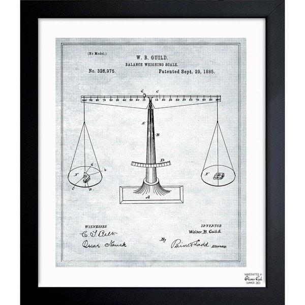 'Balance Weighing-Scale 1885' Framed Blueprint Art