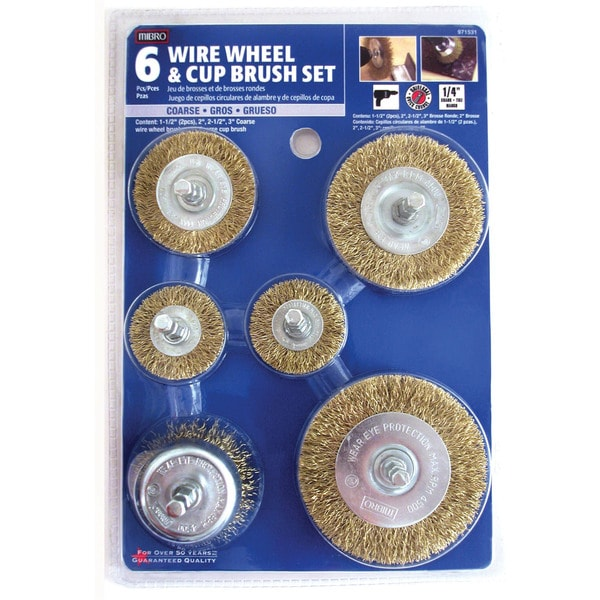 Mibro 971531 6 Piece Set Wire Wheel & Cup Brush