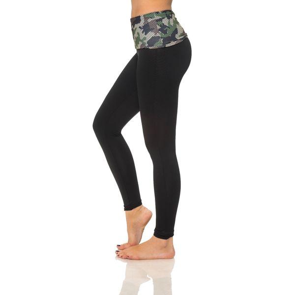 S2 Sportswear Women's Printed Camouflage Foldover Yoga Pants 17791273