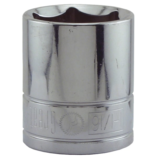 "Great Neck SK41 1-1/16"" X 1/2"" Drive 6 Point Socket Standard"