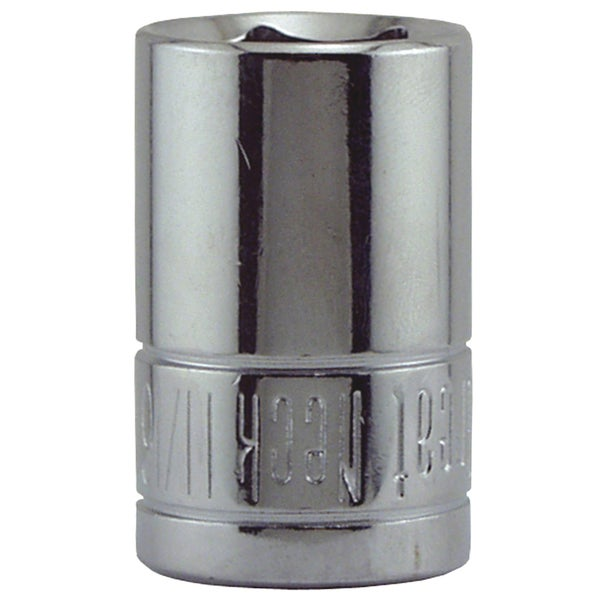 "Great Neck SK35 11/16"" X 1/2"" Drive 6 Point Socket Standard"