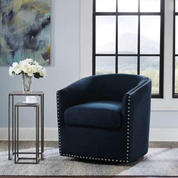 Tyler Roma Navy Swivel Chair