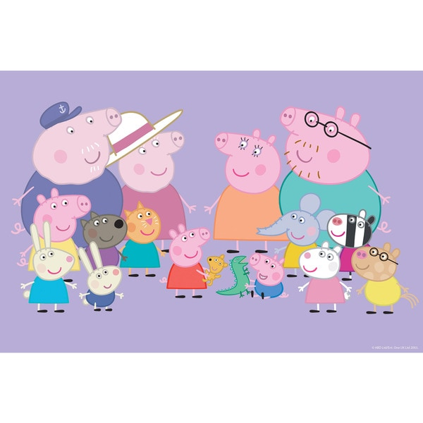 Marmont Hill 'Friends & Family' Peppa Pig Painting Print on Canvas
