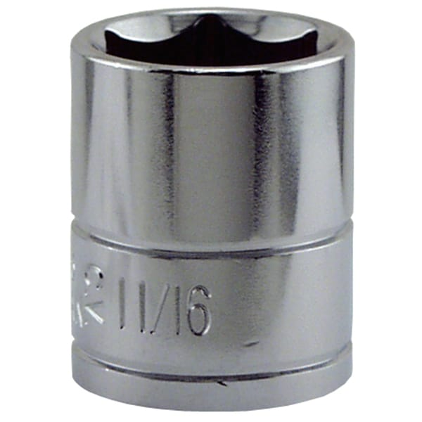 "Great Neck SK15 11/16"" X 3/8"" Drive 6 Point Socket Standard"