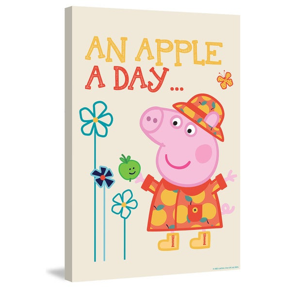 Marmont Hill 'An Apple a Day' Peppa Pig Painting Print on Canvas