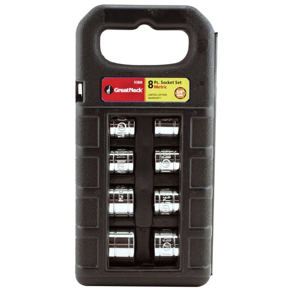 "Great Neck 938M 3/8"" Drive Sockets Metric 9 Piece Set"