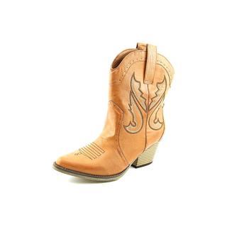 Mia Women's 'Horseback ' Brown Synthetic Boots