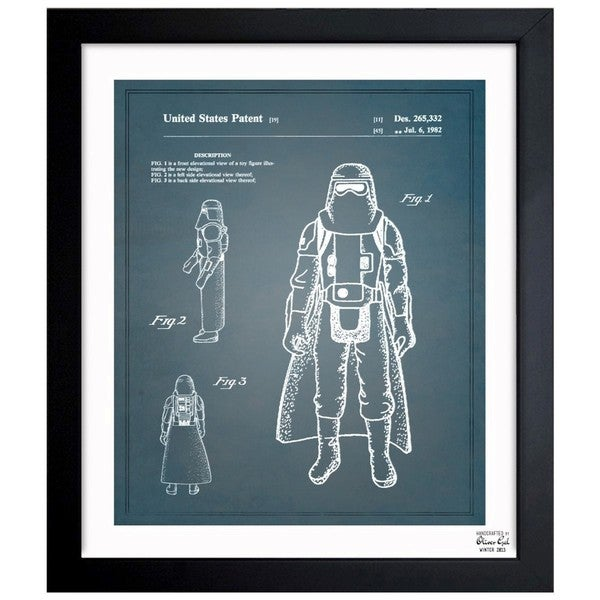 'Soldier, 1982' Framed Blueprint Art