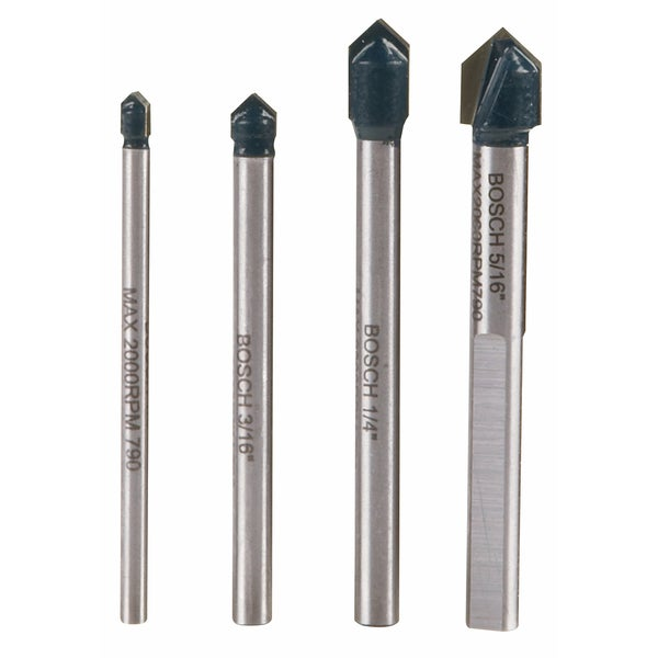 Bosch GT2000 Carbide Glass & Tile Hammer Drill Bit 4 Piece Set