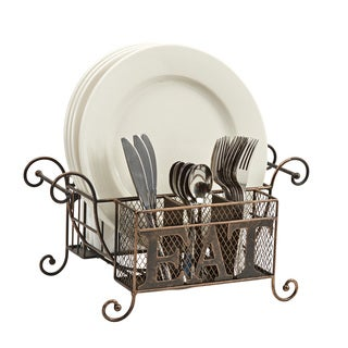 Buffet Caddy: Napkin, Plate and Flatware Holder