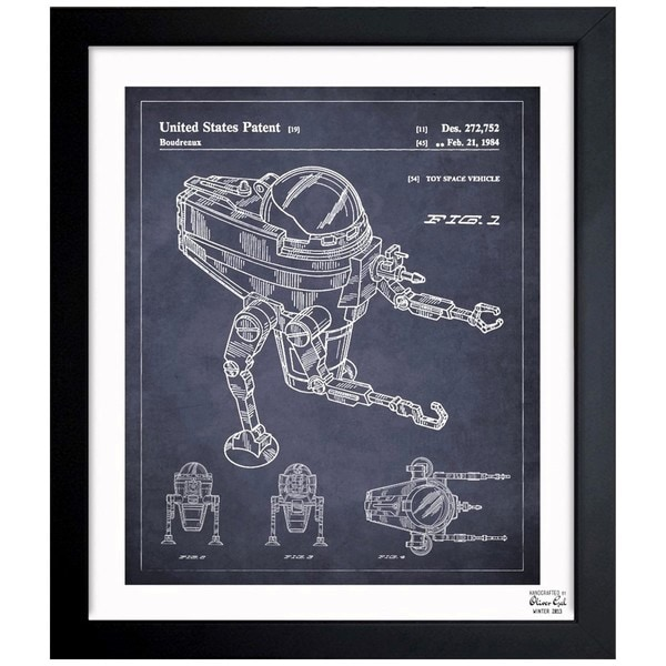 'CAP2 1984' Framed Blueprint Art