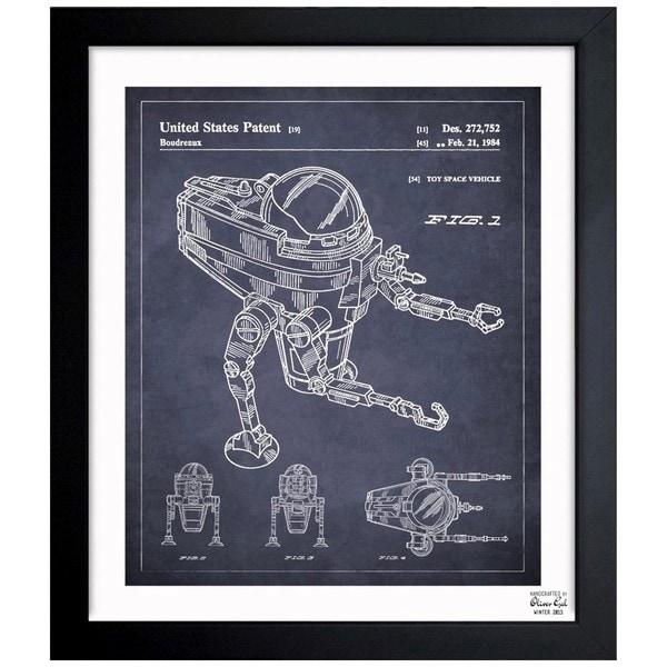 'CAP2 1984' Framed Blueprint Art