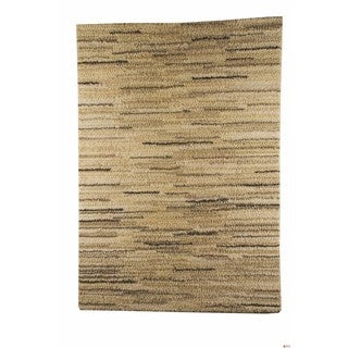 M.A.Trading Indian Hand-woven Mat Mix White Rug (5'6 x 7'10)