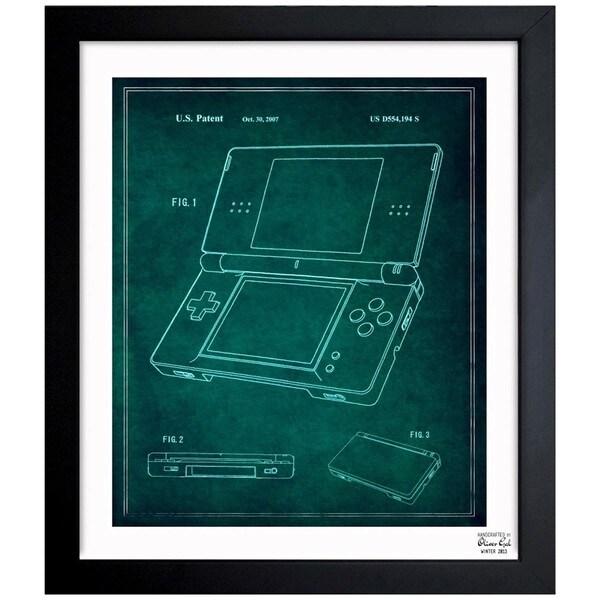 'Electronic Game Machine, 2007' Framed Blueprint Art