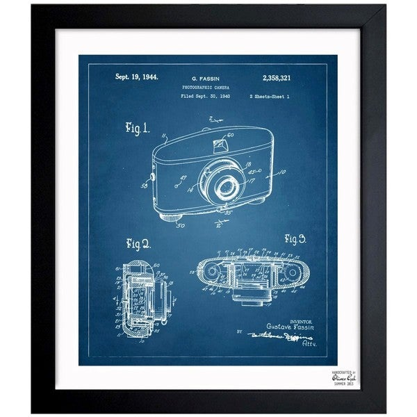 'Photographic Camera 1944' Framed Blueprint Art