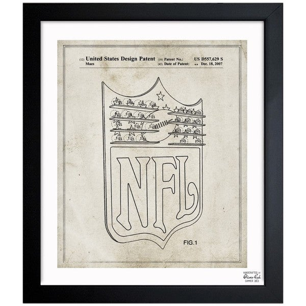 'NFL helmet display 2005' Framed Blueprint Art