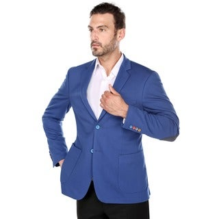 Verno Stefano Men's Royal Blue Slim Fit Fashion Blazer