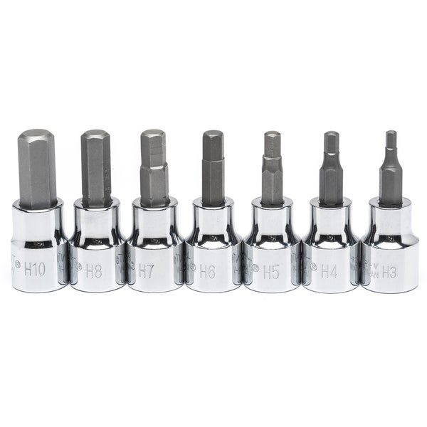"Crescent CBSS1 3/8"" Drive Metric 7 Piece Hex Bit Socket Set"