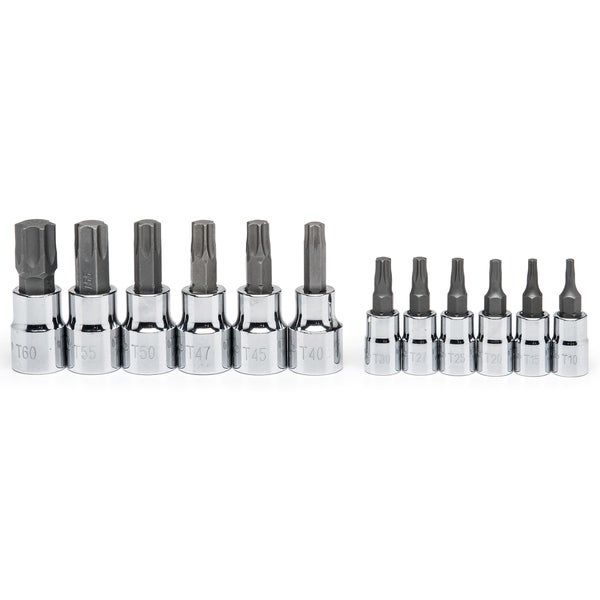 "Crescent CBSS2 1/4"" & 3/8"" Drive 12 Piece Torx Bit Socket Set"