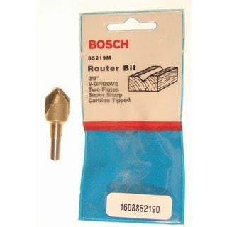 Bosch 85219M V Groove Router Bit Double Flute