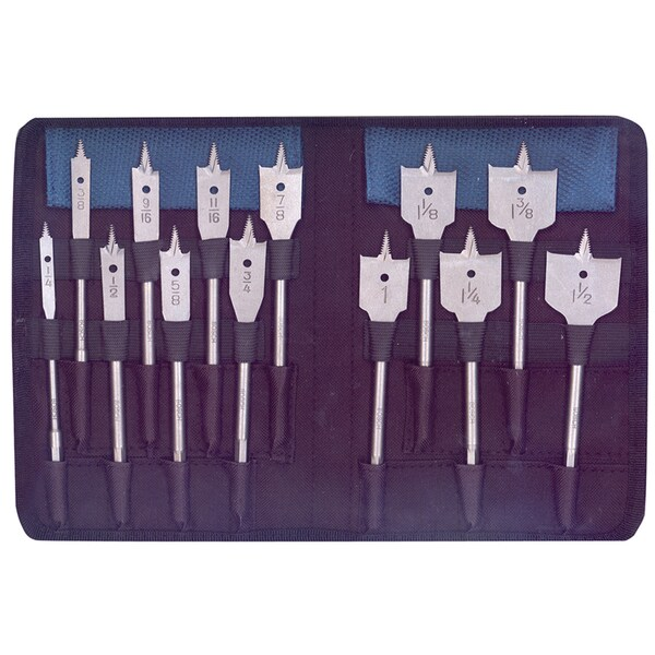 Bosch DSB5013P RapidFeed Spade Drill BIts/Nylon Storage Case 13 Piece Set