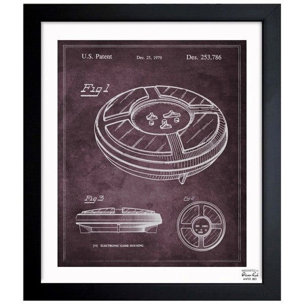 'Simon, 1979' Framed Blueprint Art