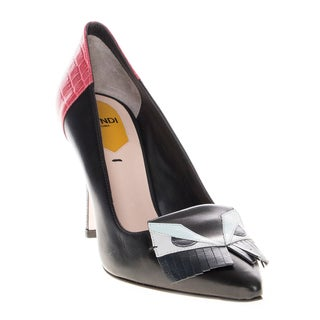 Fendi Bag Bugs Leather Pumps