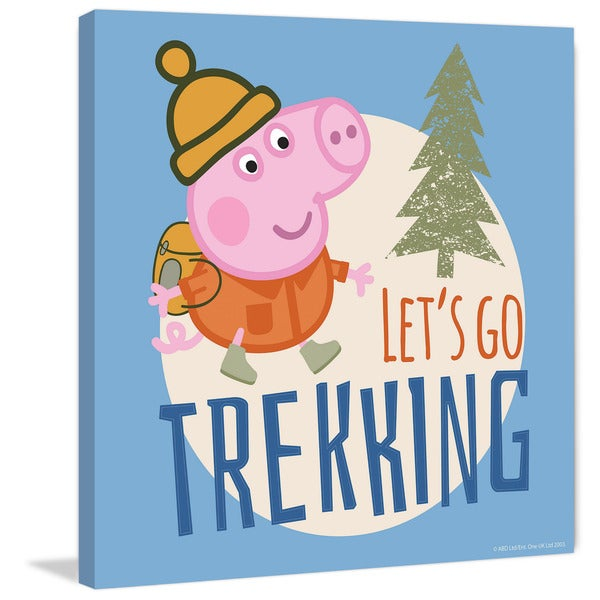 Marmont Hill 'Let's Go Trekking Blue' Peppa Pig Painting Print on Canvas