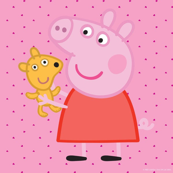Marmont Hill 'Peppa and Her Puppy' Peppa Pig Painting Print on Canvas