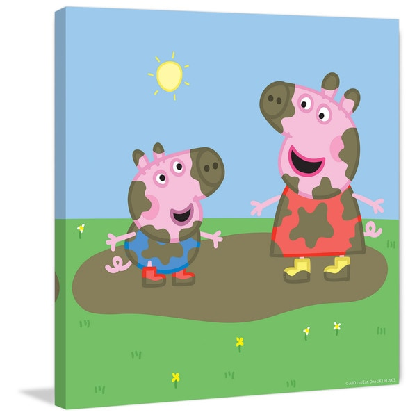 Marmont Hill 'Muddy Faces' Peppa Pig Painting Print on Canvas