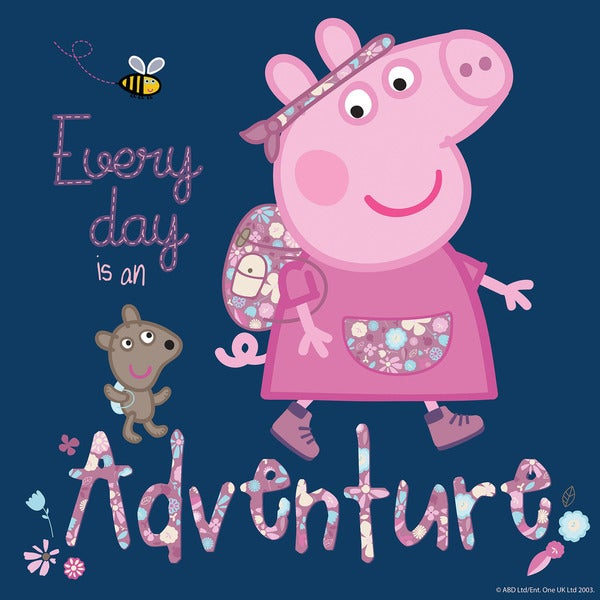 Marmont Hill 'Every Day Is an Adventure' Peppa Pig Painting Print on Canvas