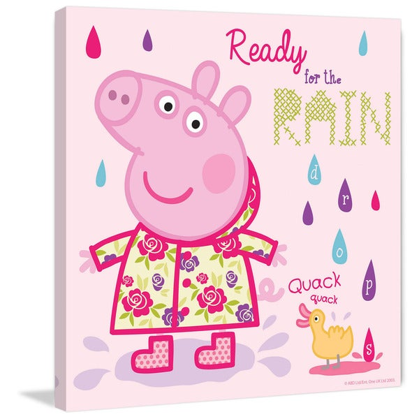Marmont Hill 'Ready for the Rain' Peppa Pig Painting Print on Canvas