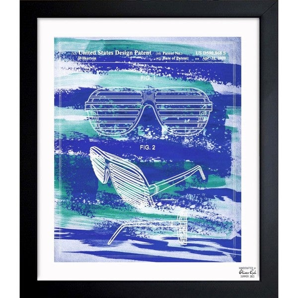 'Shutter Shade Glasses 2009' Framed Blueprint Art