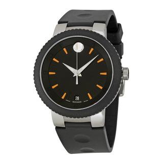 Movado Sport Edge Black Dial Rubber Strap Men's Watch 0606926