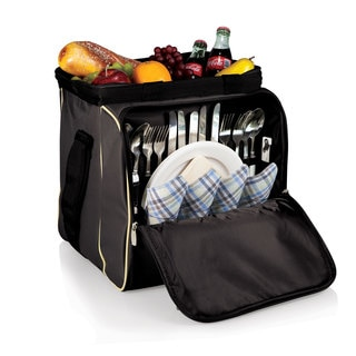 Picnic Time Black with Tan Verdugo Cooler Tote