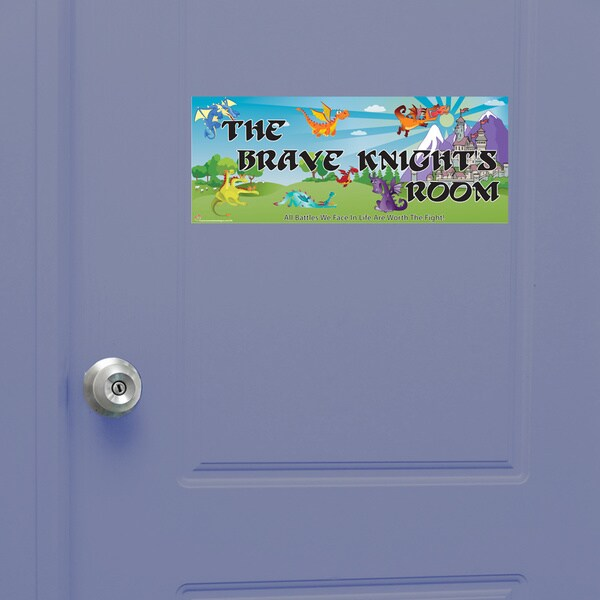 Knight Girl Door Sign Peel and Stick