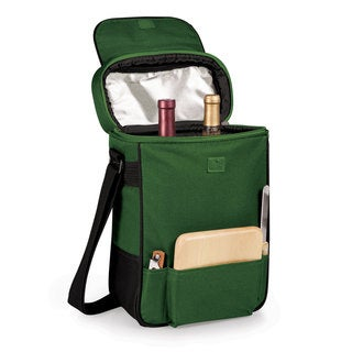 Picnic Time Hunter Green Duet Wine and Cheese Tote