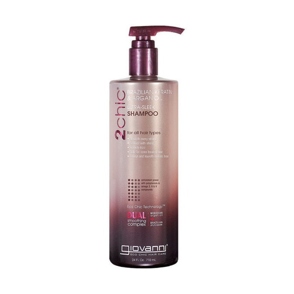 Giovanni 2chic Brazilian Keratin and Argan Oil Ultra-Sleek 24-ounce Shampoo