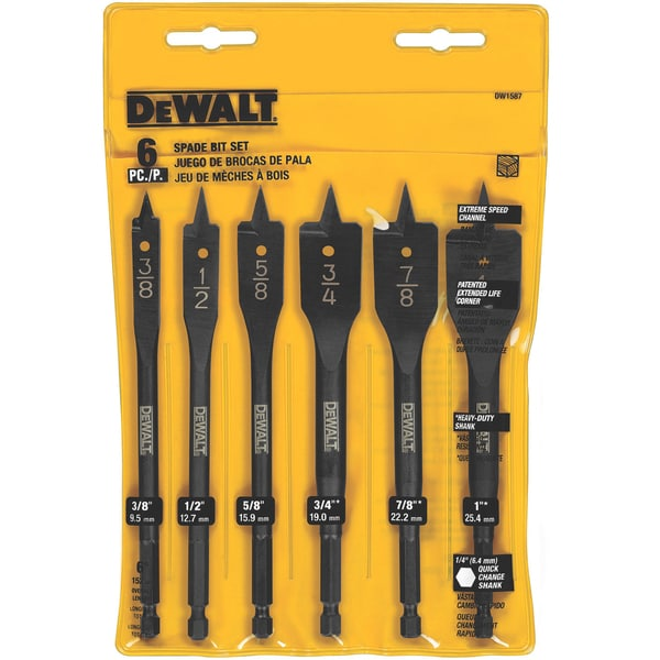 DeWalt DW1587 6-count Wood Boring Bit Set