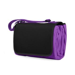 Picnic Time Purple Blanket Tote