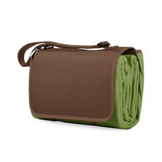 Picnic Time Pine Green/ Brown Blanket Tote
